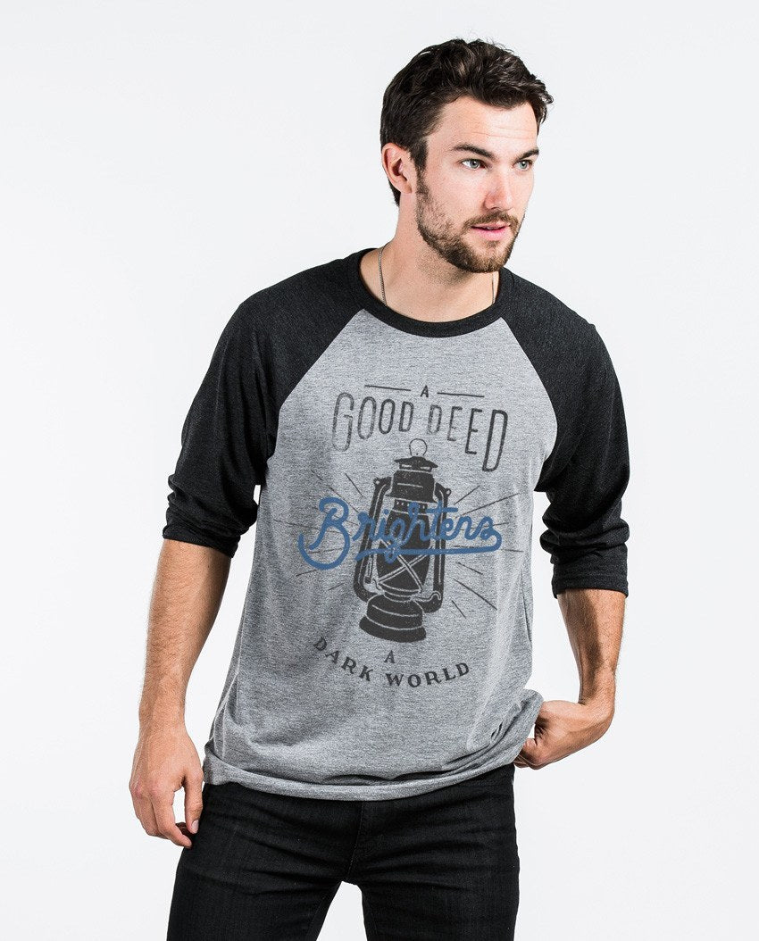 T-shirt - A Good Deed Unisex Quarter Sleeve Baseball Tee