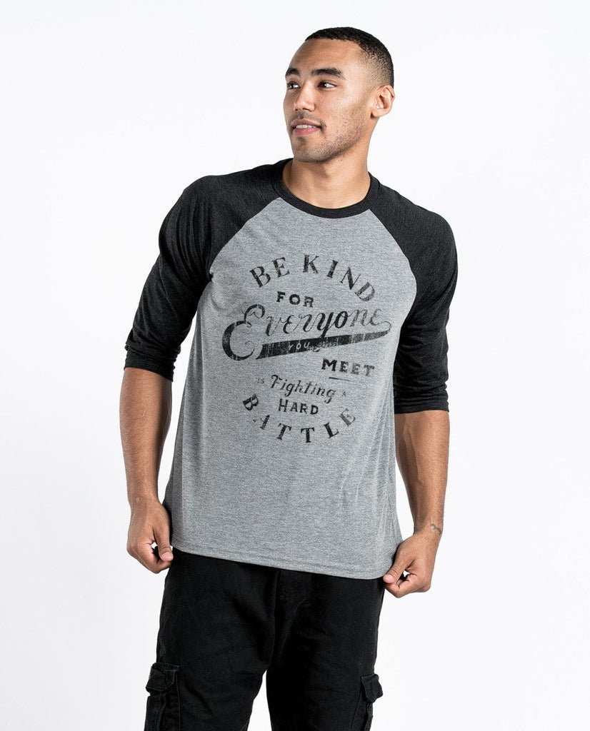 T-shirt - Be Kind Everyone Unisex Quarter Sleeve Baseball Tee