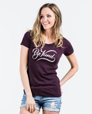 T-shirt - Be Kind Triblend Short Sleeve Tee