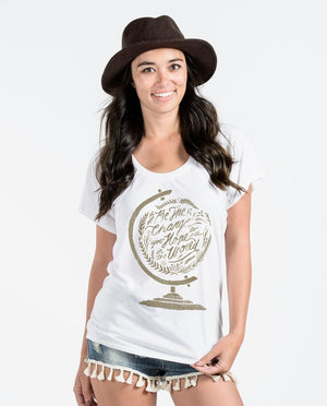 T-shirt - Be The Change Flowy Raglan