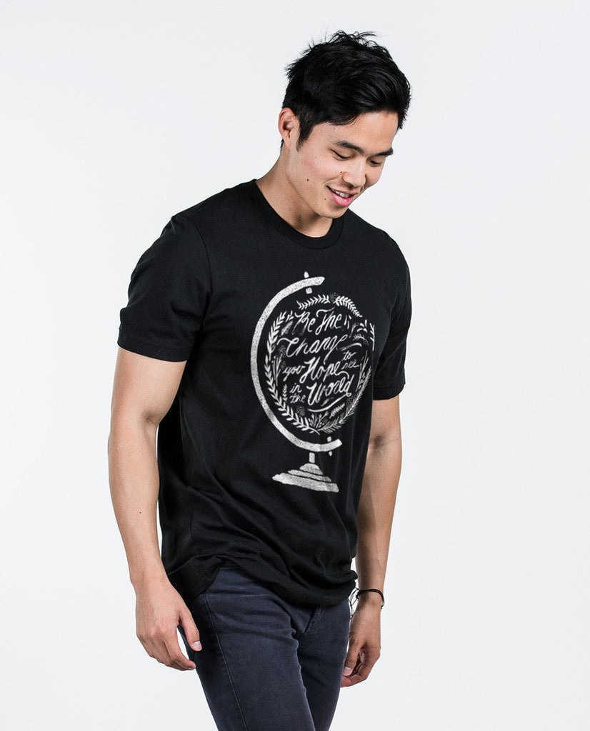 T-shirt - Be The Change Premium Fitted Tee