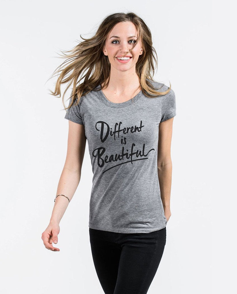 T-shirt - Different Is Beautiful Triblend Short Sleeve Tee