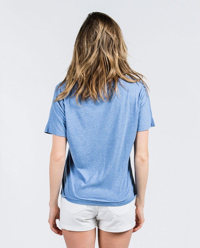 T-shirt - Different Not Less Script Flowy V Neck