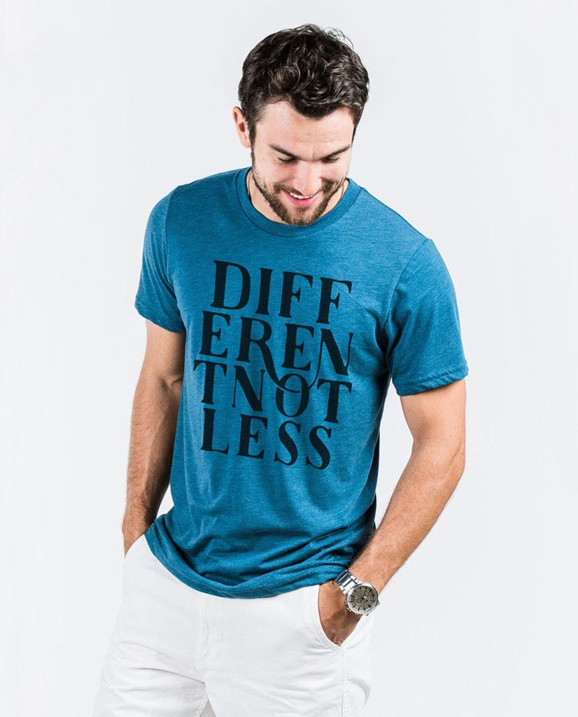 T-shirt - Different Not Less Script Unisex Triblend Short Sleeve Tee