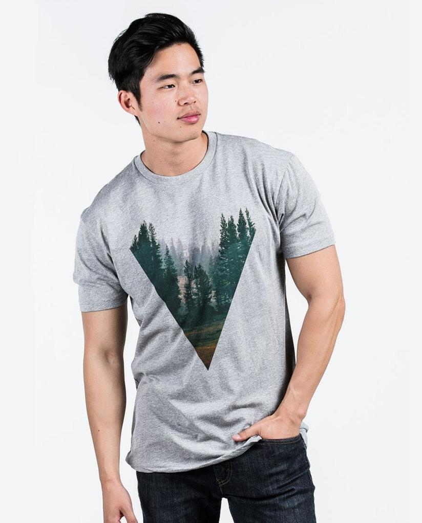 FOREST Unisex Grey Premium Fitted Tee
