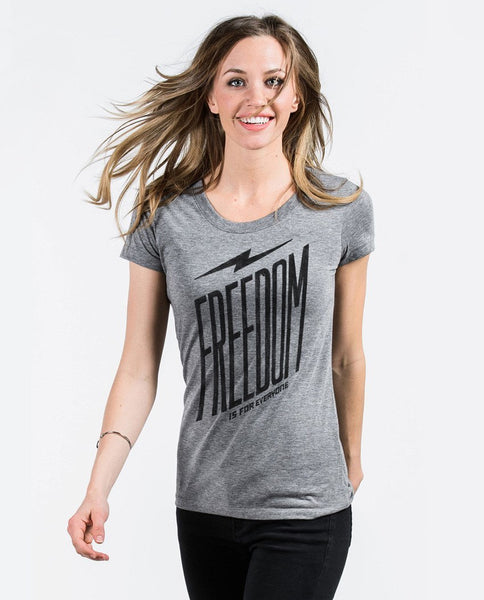 T-shirt - Freedom Is For Everyone Triblend Short Sleeve Tee