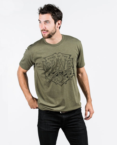T-shirt - Home Of The Brave Premium Fitted Tee