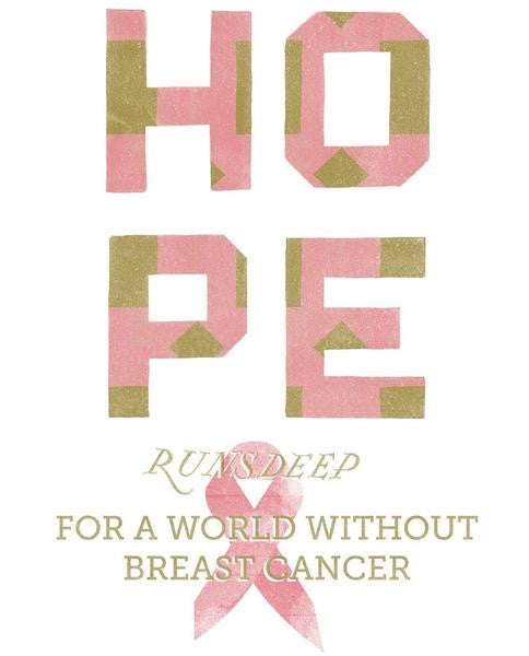 Hope Runs Deep Breast Cancer Flowy Raglan