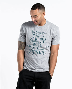 T-shirt - I Love Someone With Autism Premium Fitted Tee