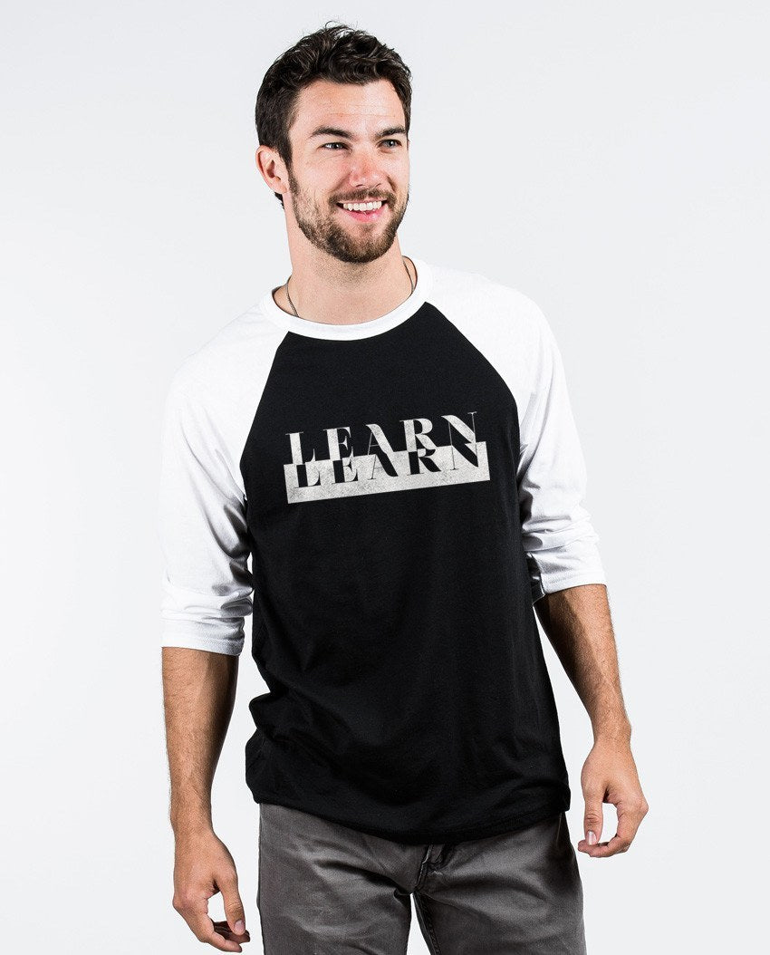 T-shirt - Learn Unisex Quarter Sleeve Baseball Tee