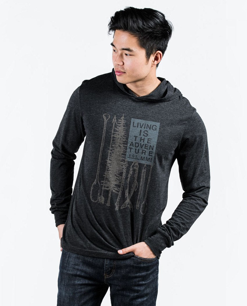 T-shirt - Living Is The Adventure Unisex Long Sleeve Hoodie