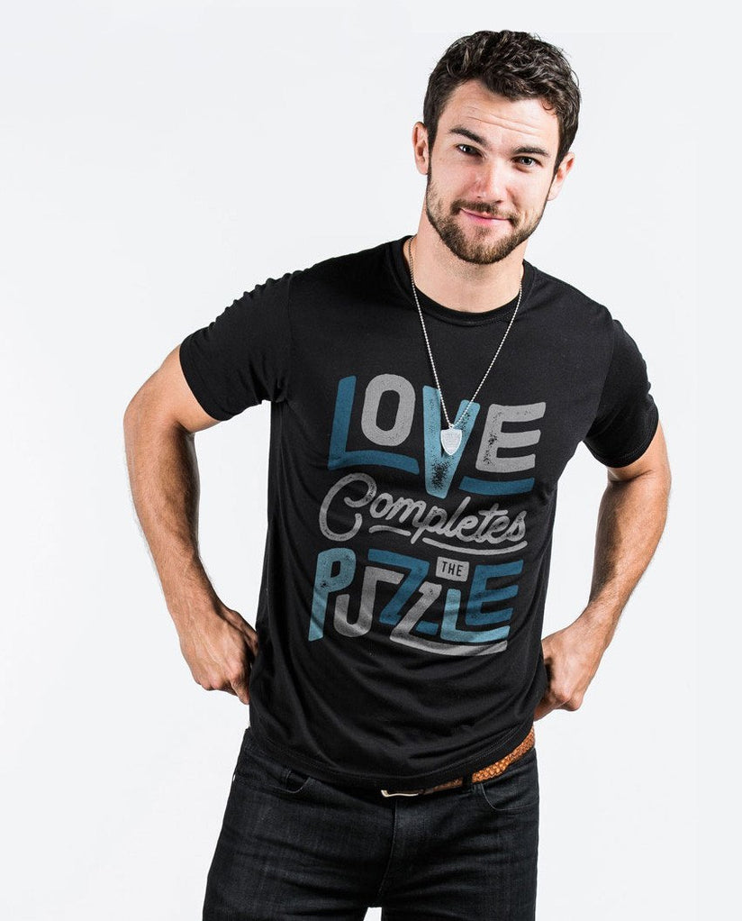 T-shirt - Love Completes The Puzzle Premium Fitted Tee
