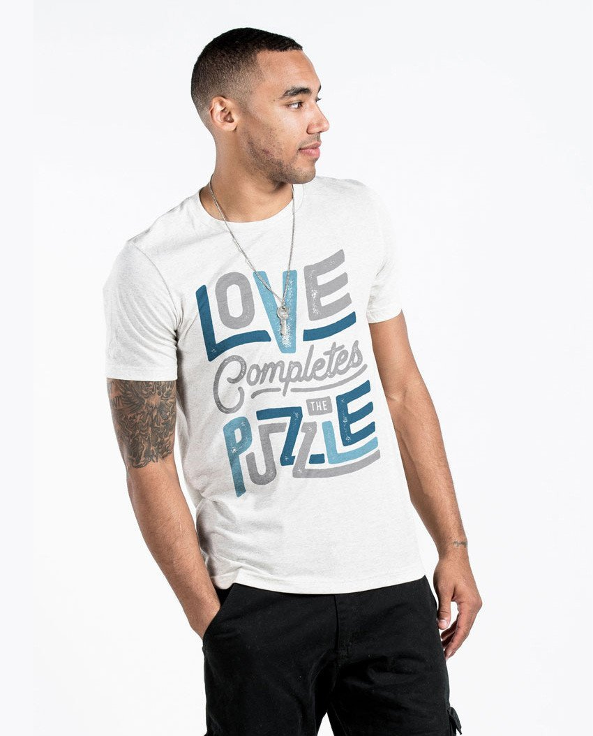 T-shirt - Love Completes The Puzzle Premium Tee