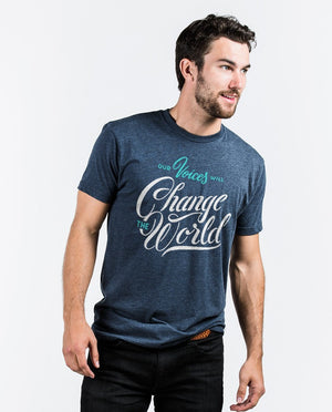 T-shirt - Our Voices Will Change The World Premium Fitted Tee