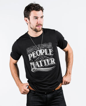 T-shirt - People Matter Chalk Premium Fitted Tee