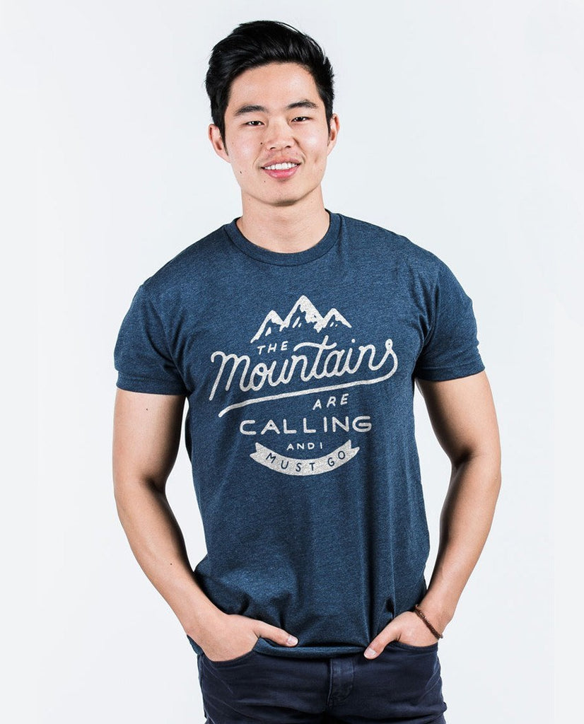 T-shirt - The Mountains Are Calling Premium Fitted Tee