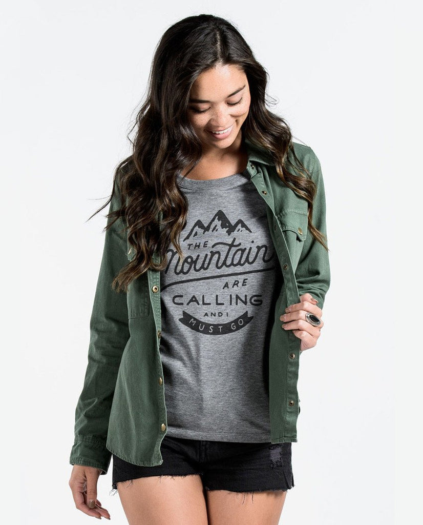 T-shirt - The Mountains Are Calling Triblend Short Sleeve Tee