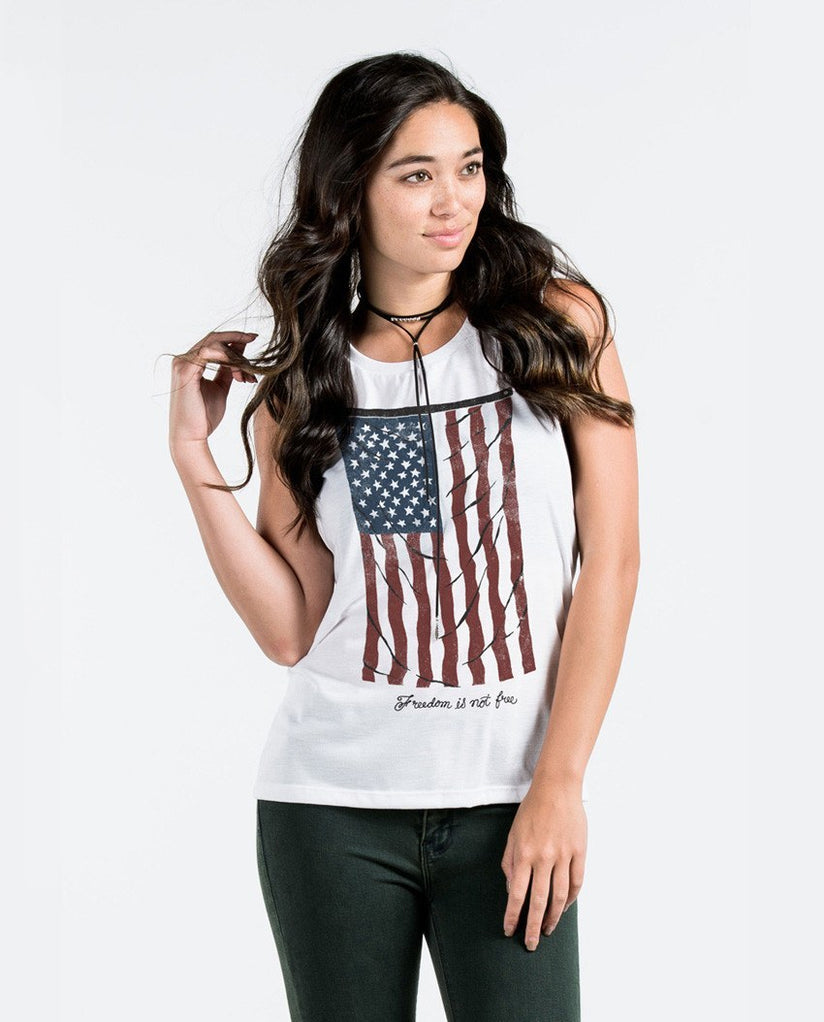 T-shirt - Vintage Flag Muscle Tank