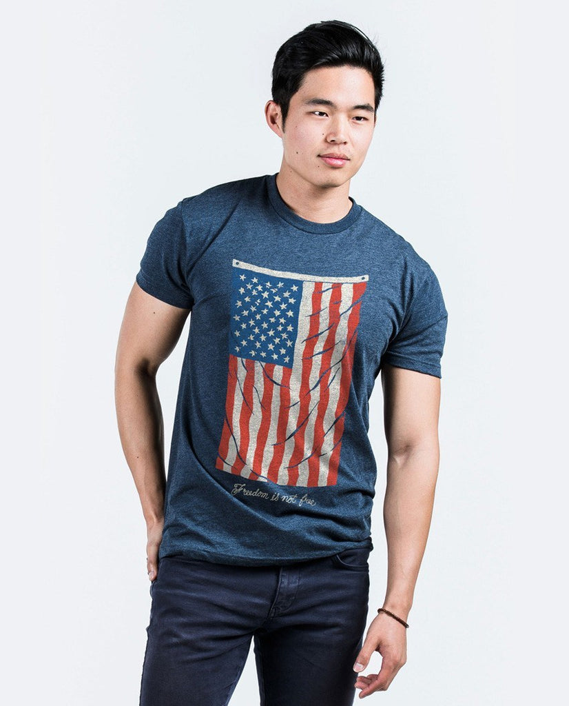 T-shirt - Vintage Flag Premium Fitted Tee