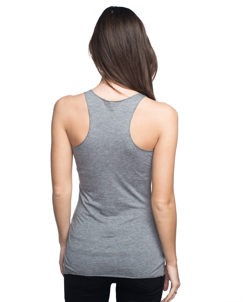 7 Words Triblend Racerback Tank