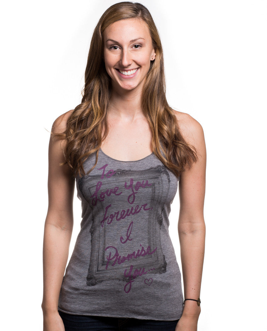 To Love You Forever Triblend Racerback Tank