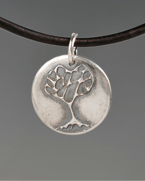 Stylized Tree Aquilla Sterling Silver Totem