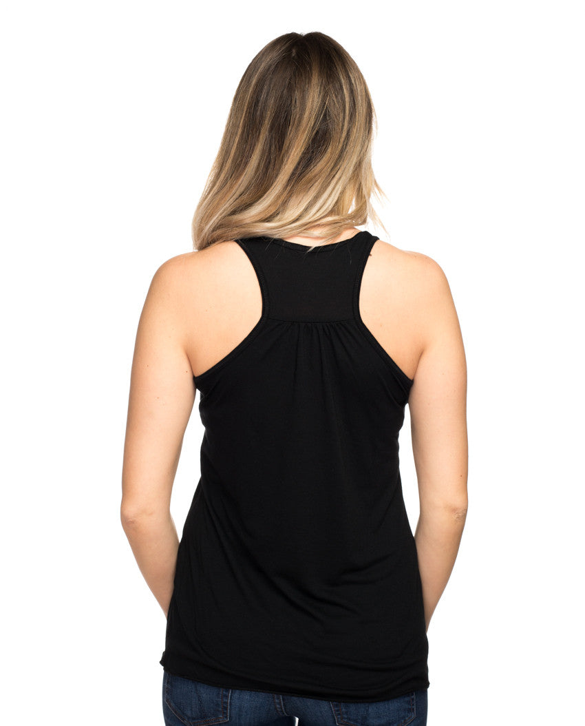 Help Save A Girl's Life Flowy Racerback Tank