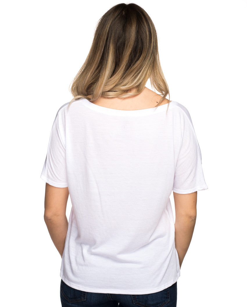 Help Save A Girl's Life Flowy V Neck