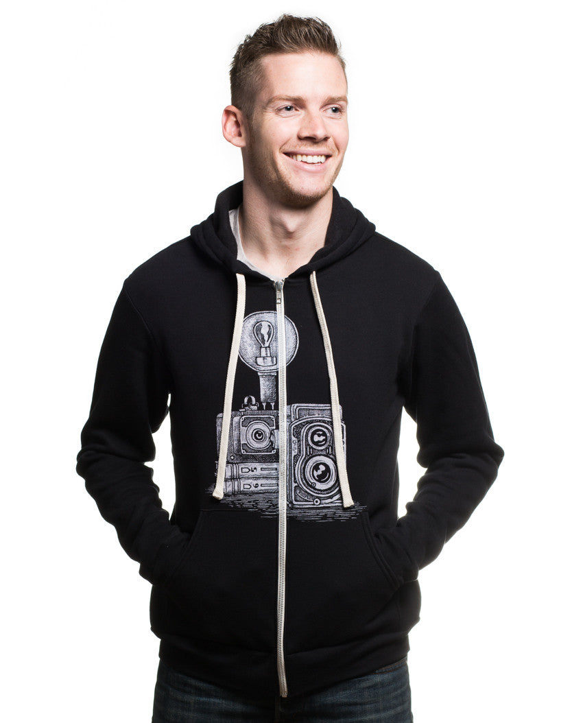 Vintage Camera Men's Unisex Zip Hoodie