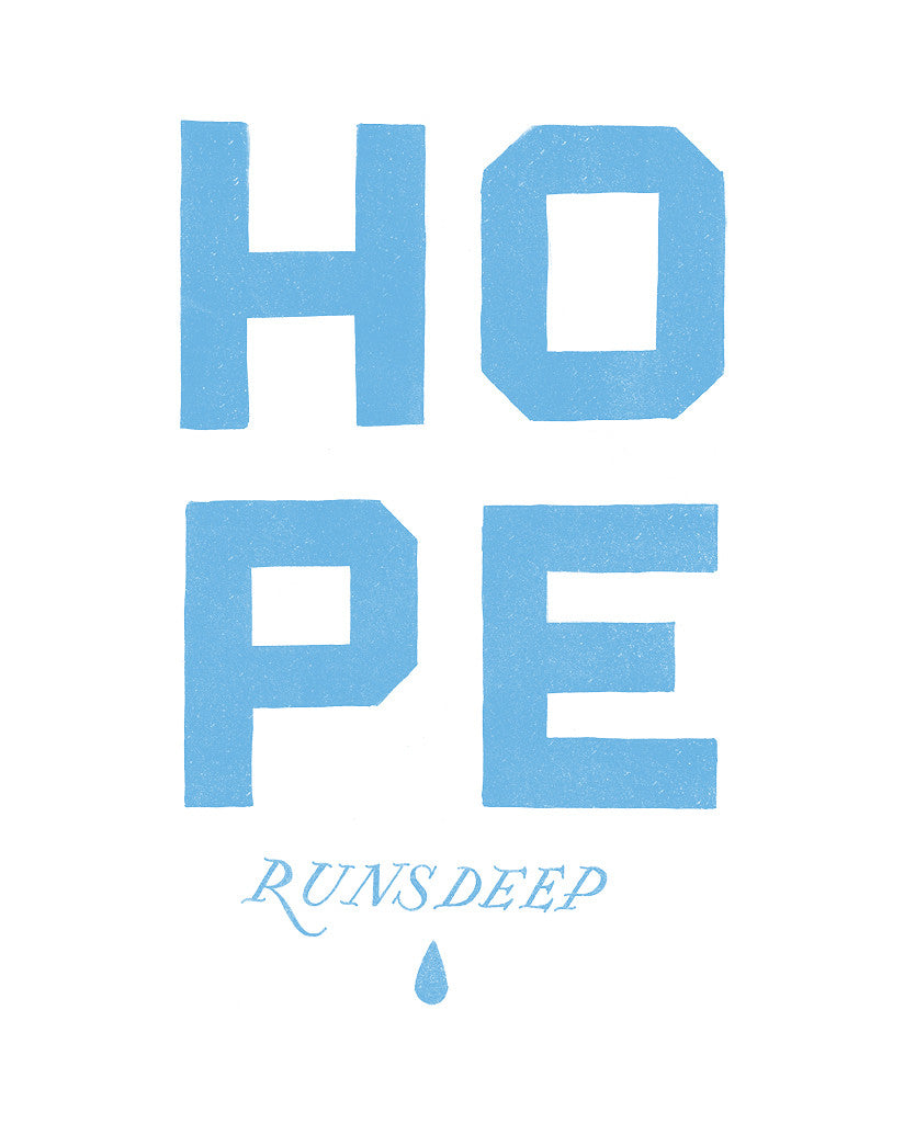Hope Runs Deep Unisex Quarter Sleeve Baseball Tee