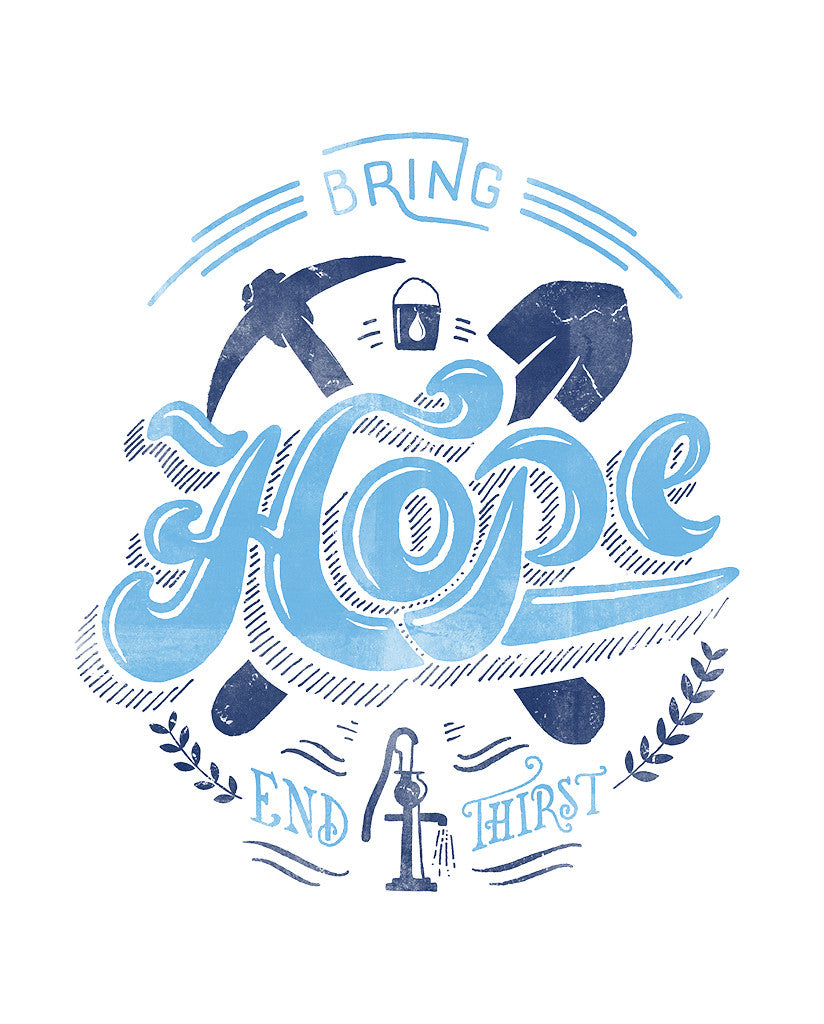 Bring Hope Blue Unisex Triblend Short Sleeve Tee