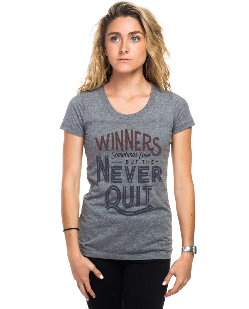 Winners Never Quit Triblend Short Sleeve Tee