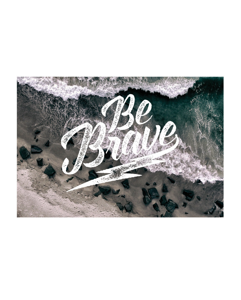 BE BRAVE Post Cards Set of 7 Identical Cards