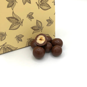 milk chocolate enrobed hazelnuts