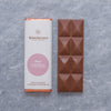 Rose flavoured milk chocolate bar