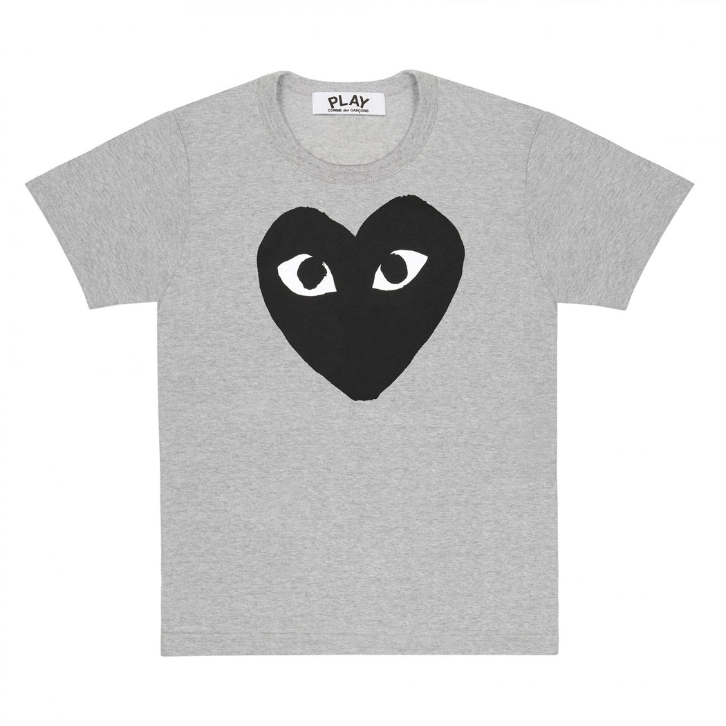 Play Comme des Garçons | Men's Black Heart Grey T-Shirt