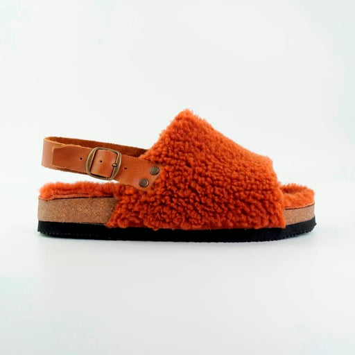 Bosabo France sheepskin Sandal in Brique