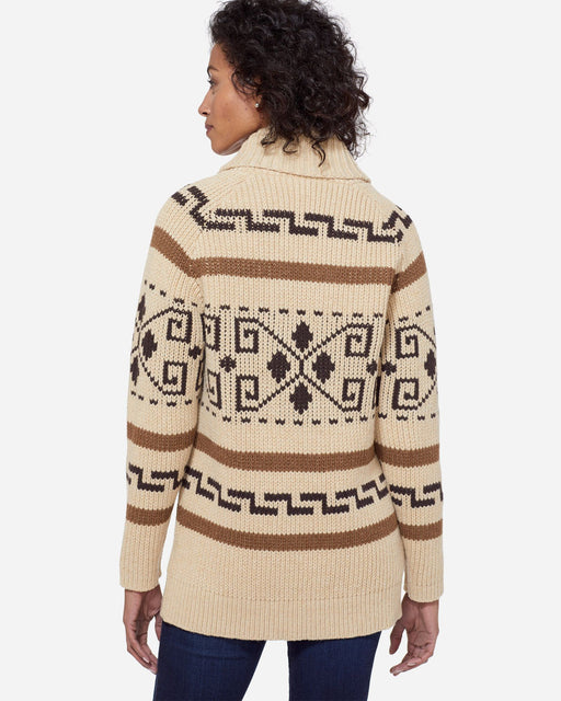 WOMEN'S Long Westerley Cardigan- Tan/Brown | Pendleton