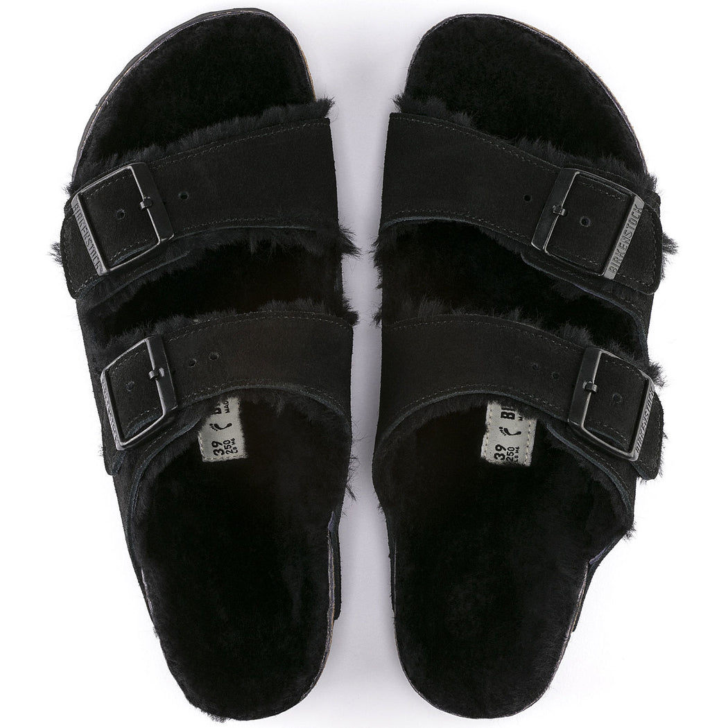 Birkenstock Sheepskin Arizona in Black
