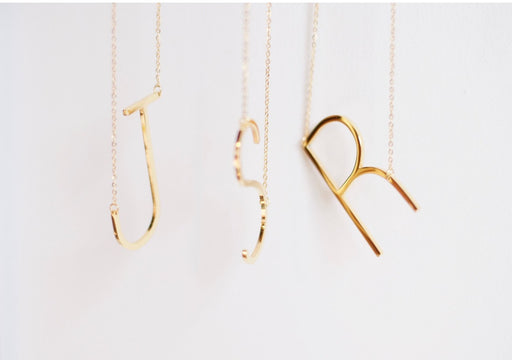 Gold Initial Necklaces | Jonesy Wood