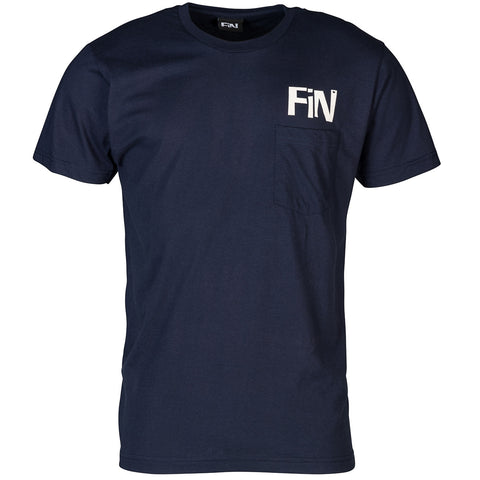 FiN Logo Navy Pocket Tee