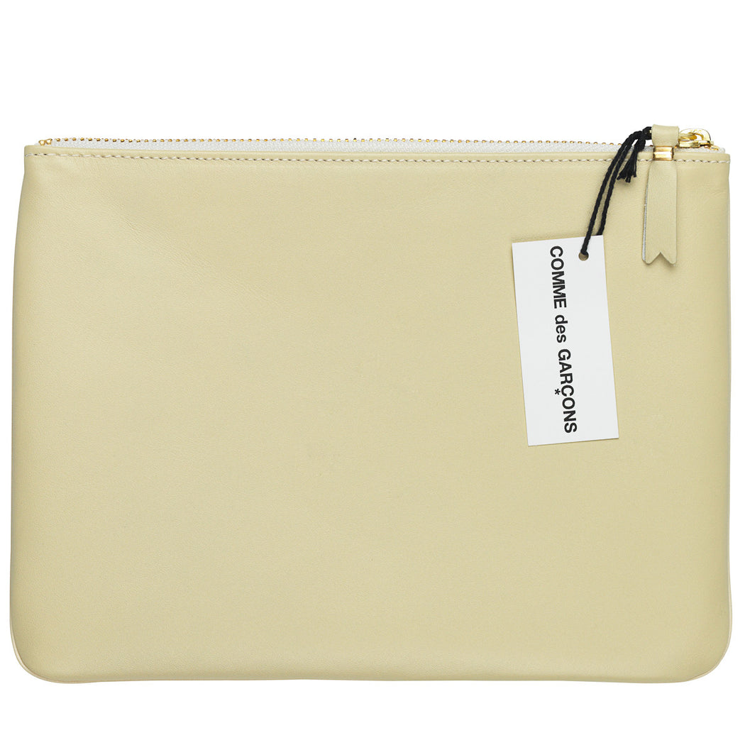 Comme des Garcons  Classic Plain Off White Large Wallet