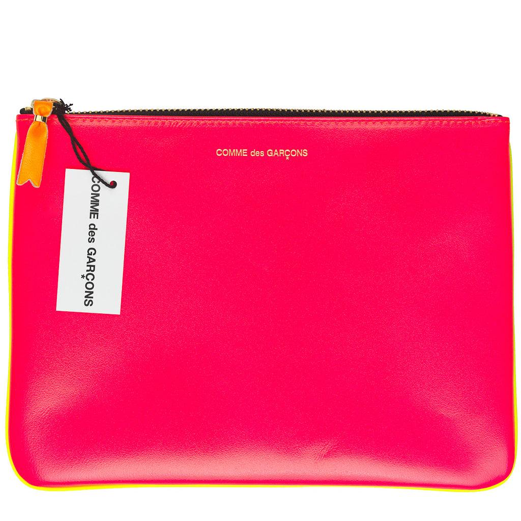Comme des Garcons Super Fluo Pink/Yellow Large wallet