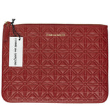 Comme des Garcons Large Embossed Red Wallet
