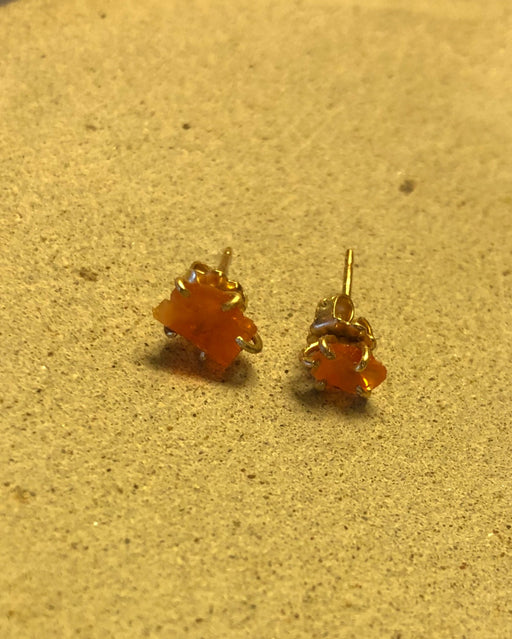 Variance Objects | Mexican Fire Opal Studs