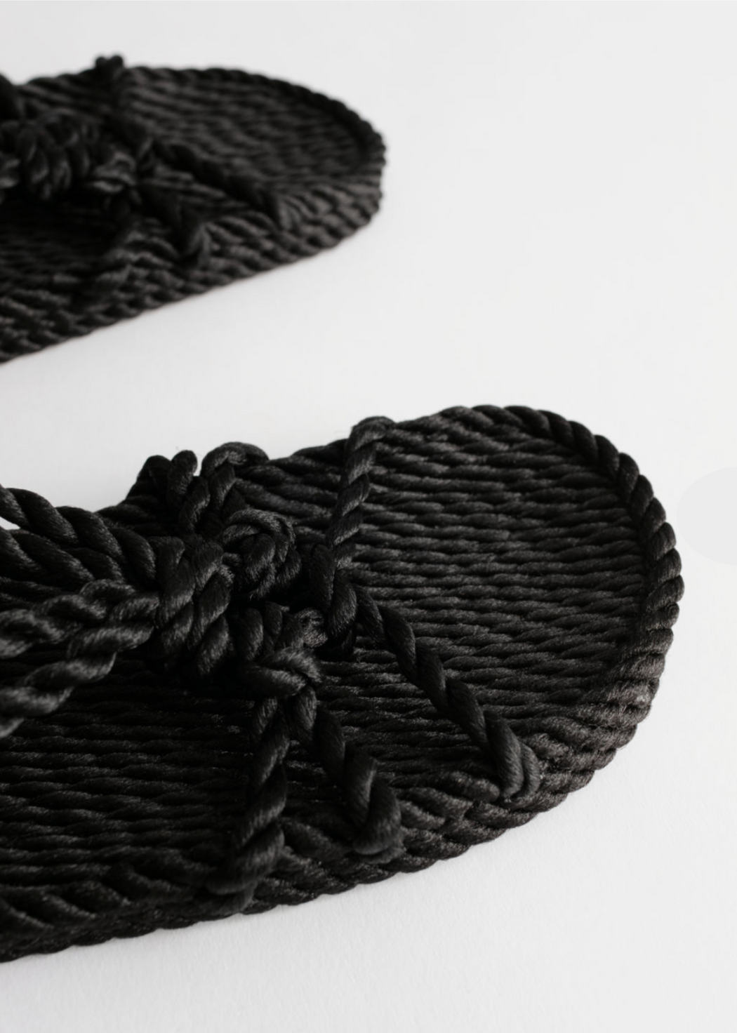 Nomadic State of Mind Wedge Rope  Sandals  Black