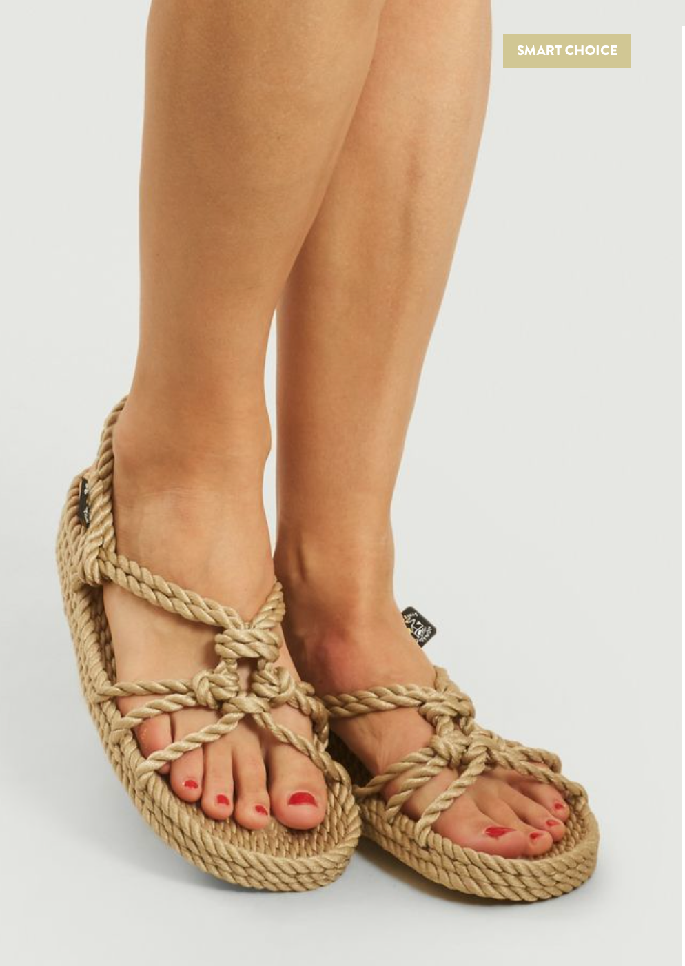 Nomadic State of Mind Wedge Rope Sandals  Beige