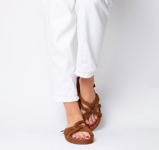 Nomadic State of Mind Rope Slip on Sandals Café
