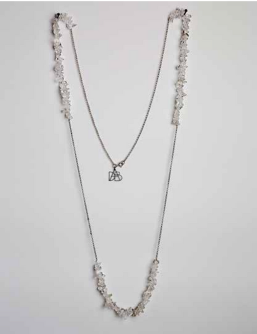 Silver and Crystal Necklace | Regina Dabdab