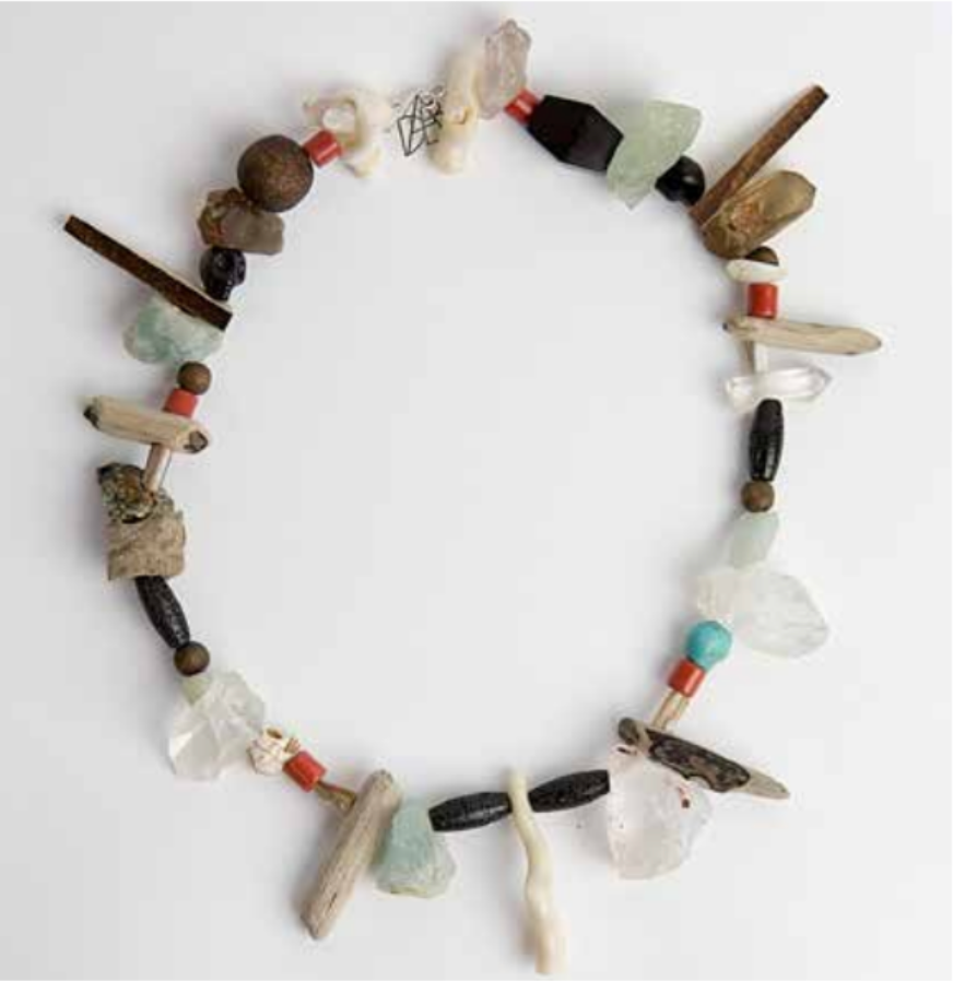 Various Semi Precious Stones, Driftwood and Silver Necklace | Regina Dabdab